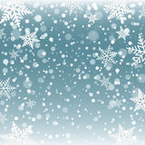 Christmas snowflakes on a blue background Royalty Free Stock Photos