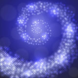 Christmas snowflakes on blue background. Vector Royalty Free Stock Photography