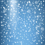 Christmas snowflakes on a blue background Royalty Free Stock Image