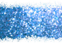 Christmas snowflakes on blue glitter. EPS 8 Royalty Free Stock Photo