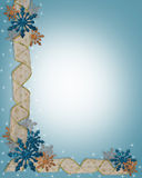 Christmas Snowflakes Border  Royalty Free Stock Photos
