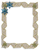 Christmas Snowflakes Border  Stock Photography