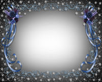 Christmas Snowflakes Border Design Royalty Free Stock Photography