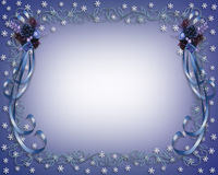 Christmas Snowflakes Border Design Royalty Free Stock Images