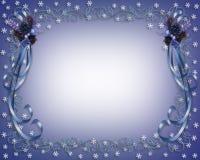 Christmas Snowflakes Border Design Royalty Free Stock Images