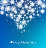 Christmas Snowflakes Card - Merry Christmas Royalty Free Stock Images