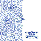Christmas snowflakes card vertical design Stock Image