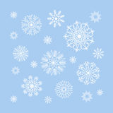 Christmas snowflakes collection, circle ornament set, ornamental Stock Photos