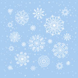 Christmas snowflakes collection, circle ornament set, ornamental Royalty Free Stock Photography