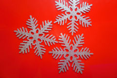 Christmas snowflakes decorations Royalty Free Stock Photography