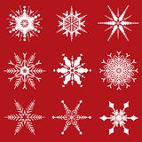 Christmas snowflakes designs Royalty Free Stock Photo