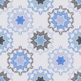 Christmas snowflakes. Ethnic boho seamless pattern. Lace. Embroidery on fabric. Patchwork texture. Weaving. Traditional ornament. Tribal pattern. Folk motif royalty free illustration