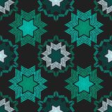 Christmas snowflakes. Ethnic boho seamless pattern. Lace. Embroidery on fabric. Patchwork texture. Weaving. Traditional ornament. Tribal pattern. Folk motif stock illustration