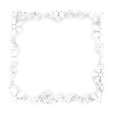 Christmas snowflakes frame Royalty Free Stock Photo
