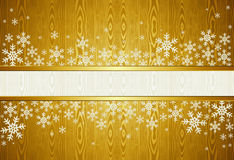 Christmas snowflakes golden background Royalty Free Stock Photography