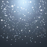 Christmas snowflakes on a gray background Royalty Free Stock Photo