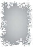 Christmas snowflakes grunge frame Stock Image