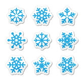 Christmas snowflakes icons set Royalty Free Stock Photo