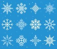 Christmas snowflakes. Illustration set Royalty Free Stock Photos