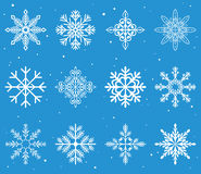 Christmas snowflakes. Illustration set stock illustration