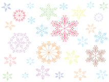 Christmas snowflakes,isolated. Stock Photography