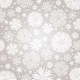Christmas  snowflakes  over grey  background, vector Royalty Free Stock Photography