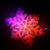 Christmas snowflakes paper Royalty Free Stock Images
