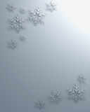 Christmas snowflakes papercut illustration Stock Photography