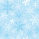 Christmas_Snowflakes_Pattern_Blue_04 Photographie stock
