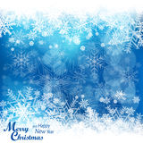 Christmas snowflakes pattern in blue Royalty Free Stock Images