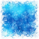 Christmas snowflakes pattern in blue Royalty Free Stock Photography