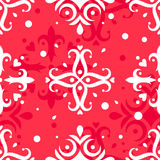 Christmas snowflakes vector pattern Stock Images