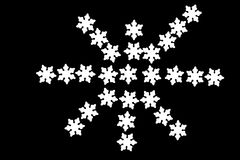 Christmas snowflakes pattern with ornaments Royalty Free Stock Photo