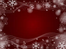 Christmas snowflakes in red Stock Photos