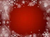 Christmas snowflakes in red 2 Royalty Free Stock Photos
