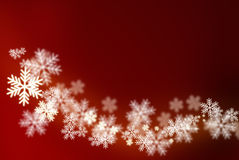 Christmas snowflakes on red background Royalty Free Stock Photos