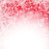 Christmas snowflakes on red background. Stock Images