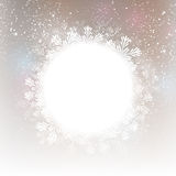 Christmas snowflakes round frame Stock Photo