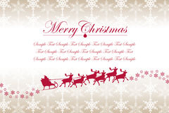 Christmas Snowflakes and Santa Claus Royalty Free Stock Photo