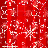 Christmas snowflakes seamless background 3 Royalty Free Stock Photos