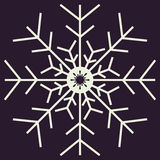 Christmas snowflakes seamless background. New year pattern vector illustration Royalty Free Stock Photography
