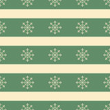 Christmas snowflakes seamless background. New year pattern vector illustration Stock Image