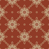 Christmas snowflakes seamless background. New year pattern vector illustration Royalty Free Stock Image