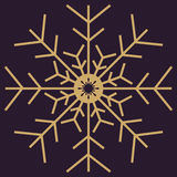 Christmas snowflakes seamless background. New year vector illustration Stock Photography