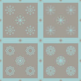 Christmas snowflakes seamless background. New year vector illustration Royalty Free Stock Images