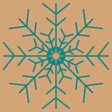Christmas snowflakes seamless background. New year vector illustration Royalty Free Stock Photos