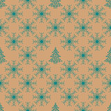 Christmas snowflakes seamless background. New year vector illustration Stock Photo