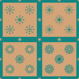 Christmas snowflakes seamless background. New year vector illustration Stock Image