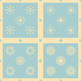 Christmas snowflakes seamless background. New year vector illustration Stock Images