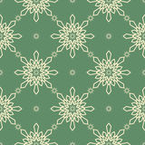 Christmas snowflakes seamless background. New year vector illustration Stock Photos